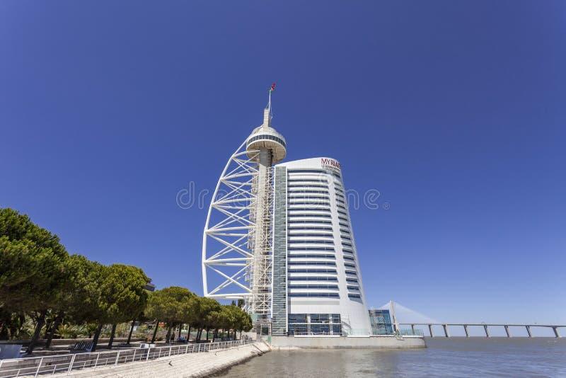 Download Vasco Da Gama Tower / Myriad Hotel - Lisbon Editorial Image - Image: 38657090