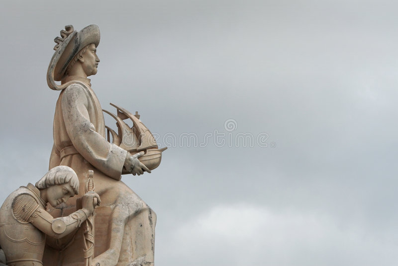 Vasco da Gamma. Monument of Vasco da Gamma in Lisbon stock photography