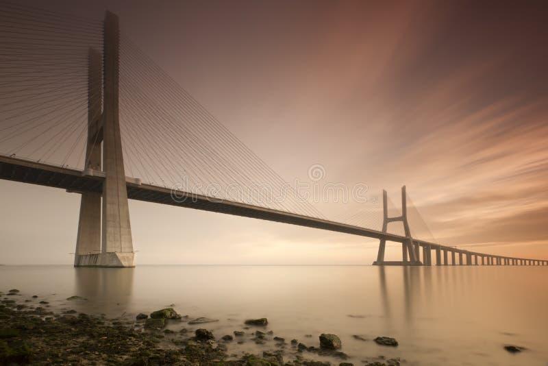 Vasco de Gama Bridge stockfoto