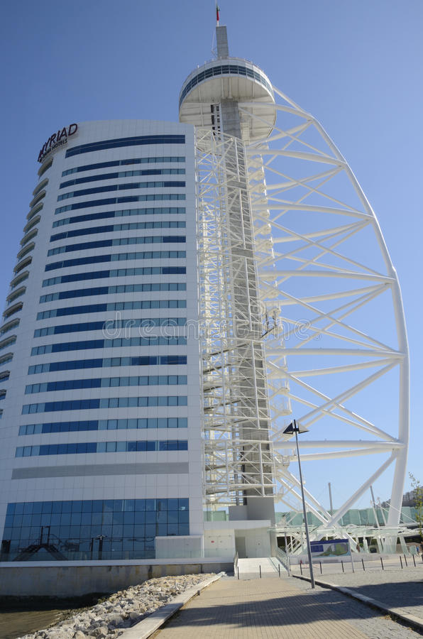 Download Vasco de Gama tower editorial stock photo. Image of crystal - 34300243