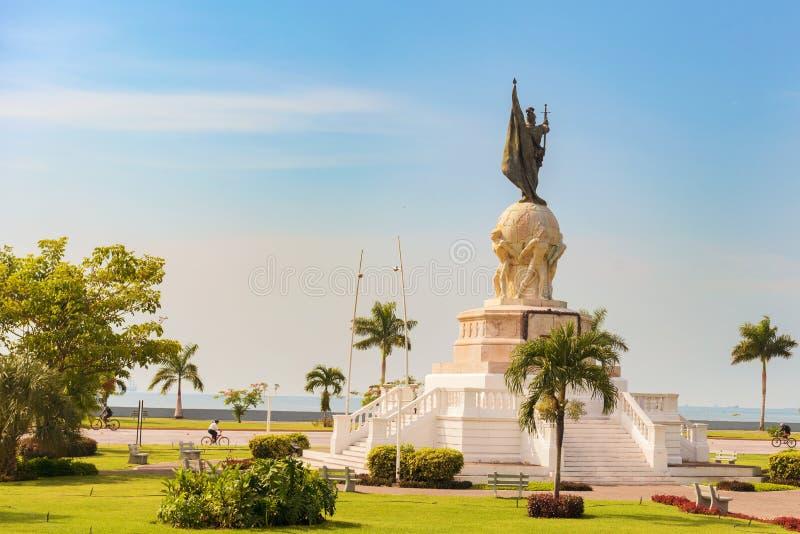 Vasco Nunez de Balboa Monument Panamá, Repubblica di Panama, fotografia stock libera da diritti