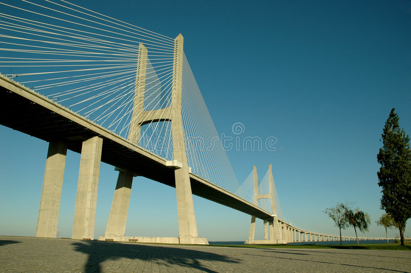 Vascoda Gama-Brücke 2 stockbilder