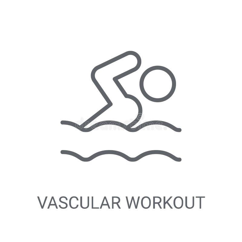Vasculair trainingpictogram Het in Vasculaire concept van het trainingembleem op w vector illustratie