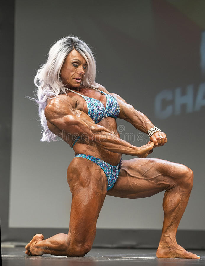 Vascular Female Bodybuilder Editorial Photography - Image