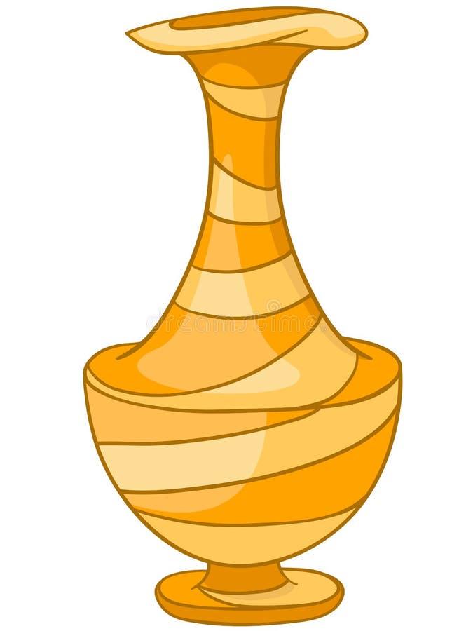 Vase à la maison à dessin animé illustration de vecteur