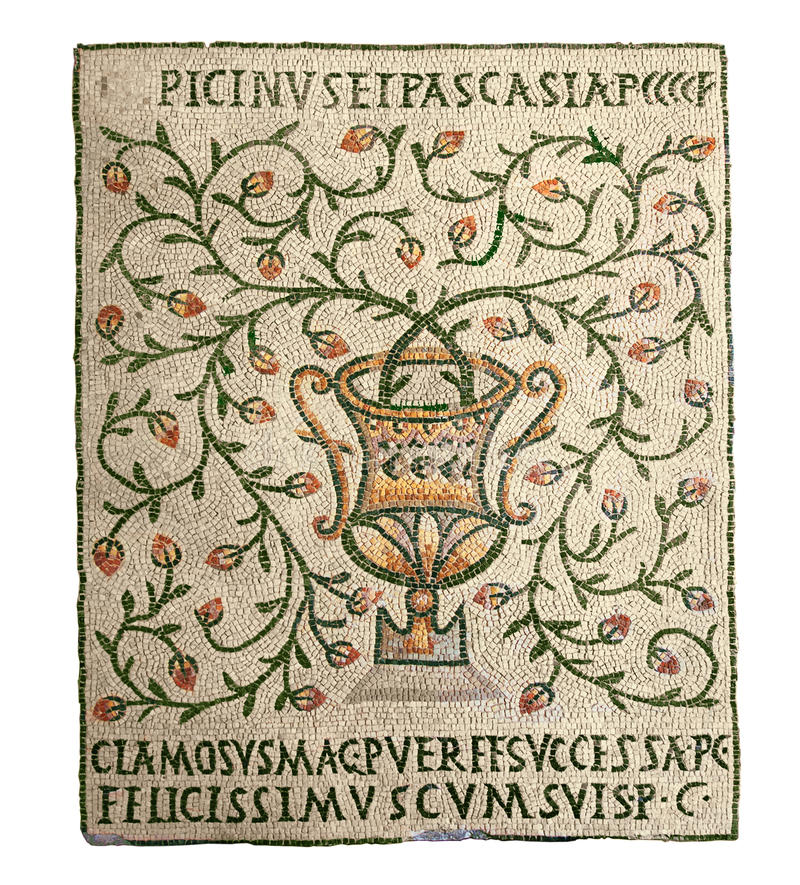 Vase - αρχαία μωσαϊκά στοκ εικόνες