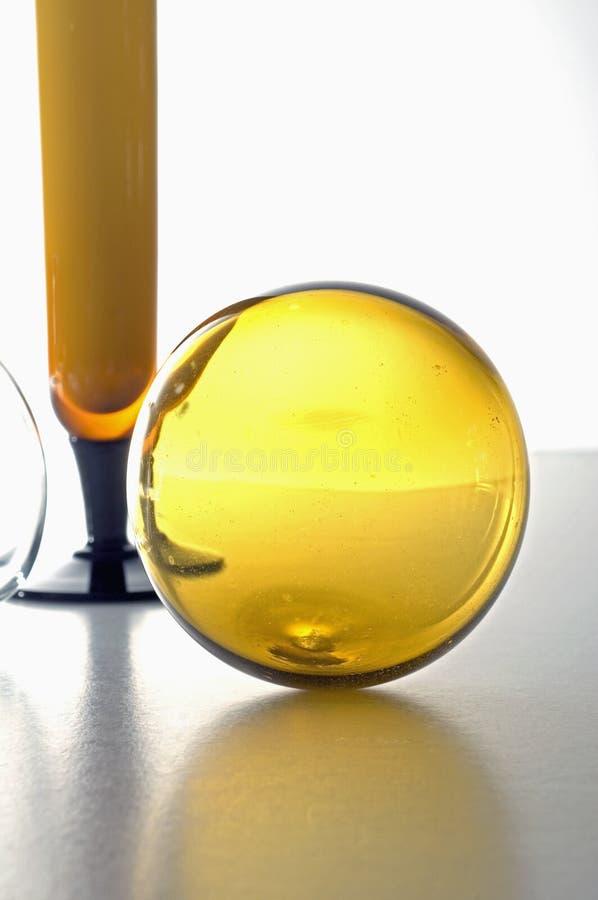 vase γυαλιού deco σφαιρών στοκ φωτογραφία