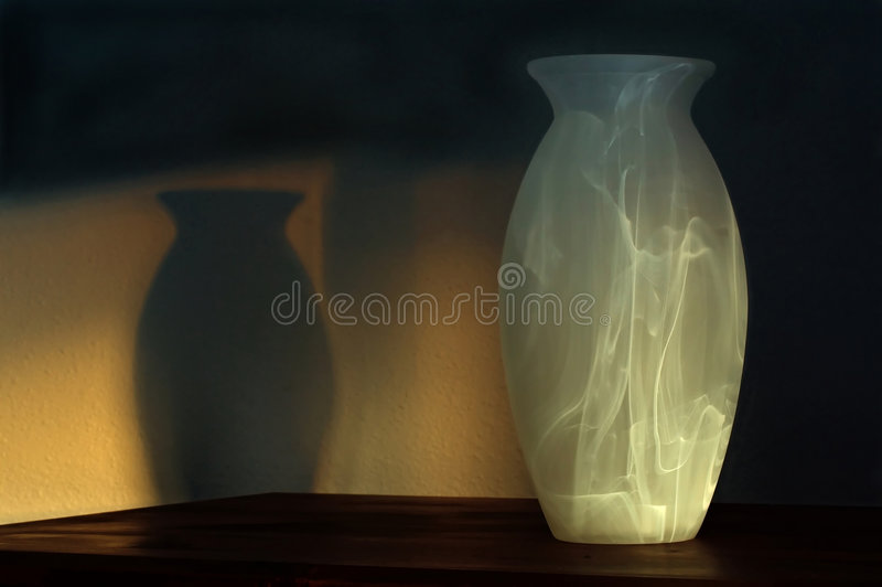 vase ηλιοβασιλέματος σκιών στοκ εικόνες με δικαίωμα ελεύθερης χρήσης