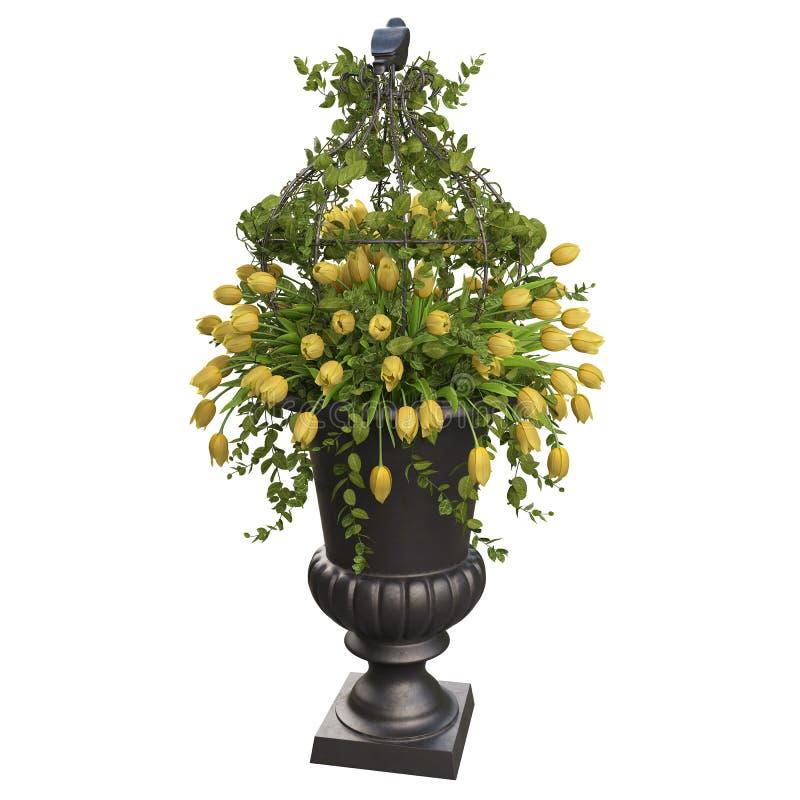 vase τουλιπών λουλουδιών κ απεικόνιση αποθεμάτων