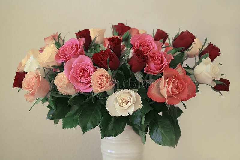 vase τριαντάφυλλων στοκ φωτογραφία