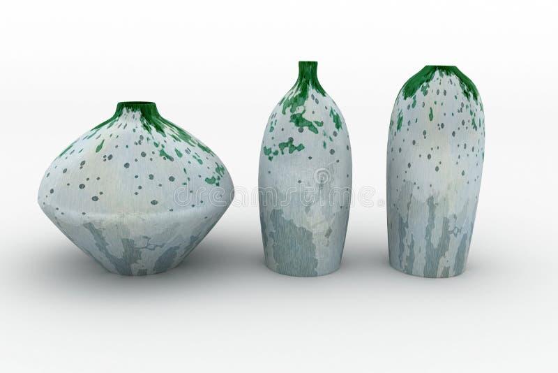 Vase. Isolated on the white. 3d image stock illustration