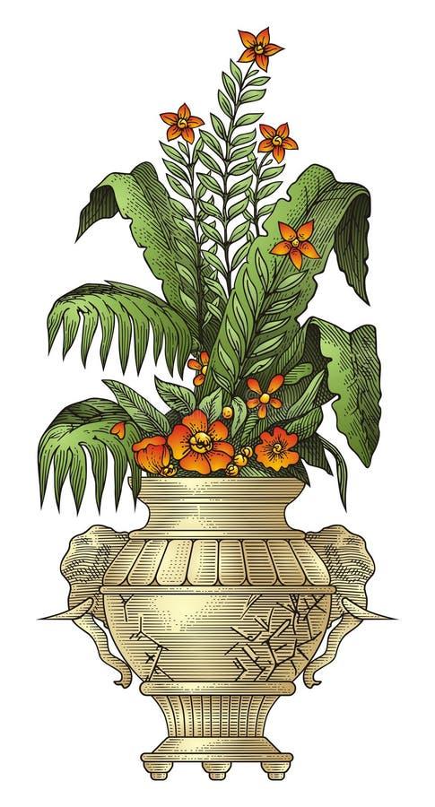Download Vase stock vector. Illustration of engraving, decoration - 16579036