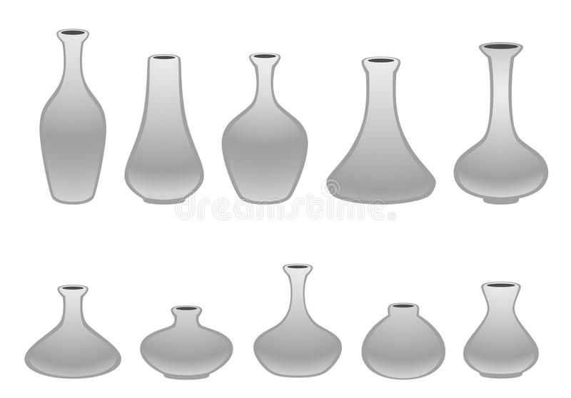 Vase. On a white background royalty free illustration