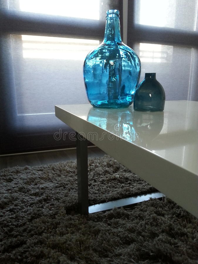 Vase bleu photo libre de droits