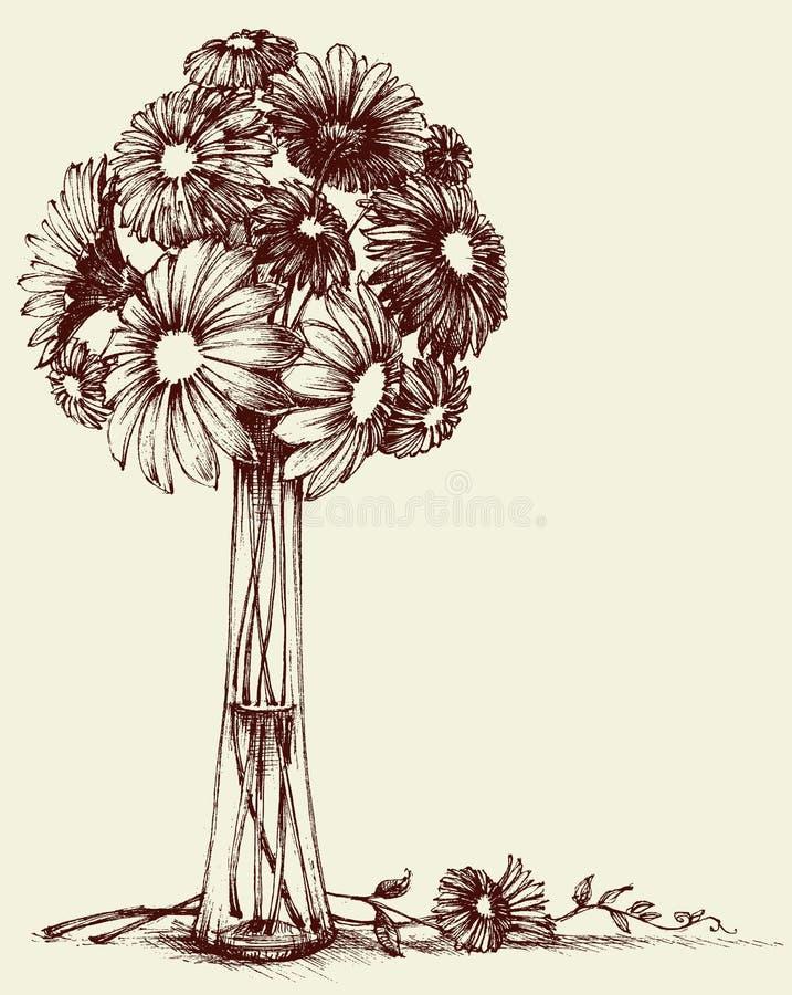 Vase Blumen lizenzfreie abbildung