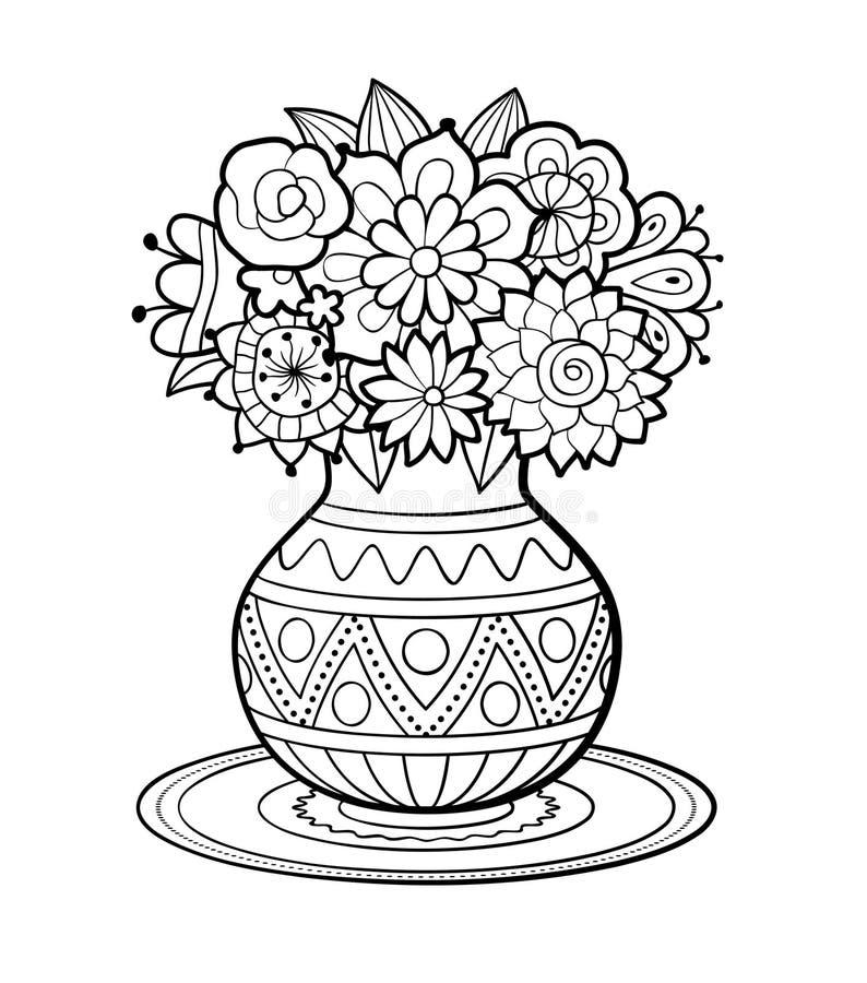 Vase Blumen stock abbildung