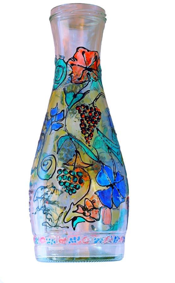 Vase Bottle Paints Glass Stock Photography