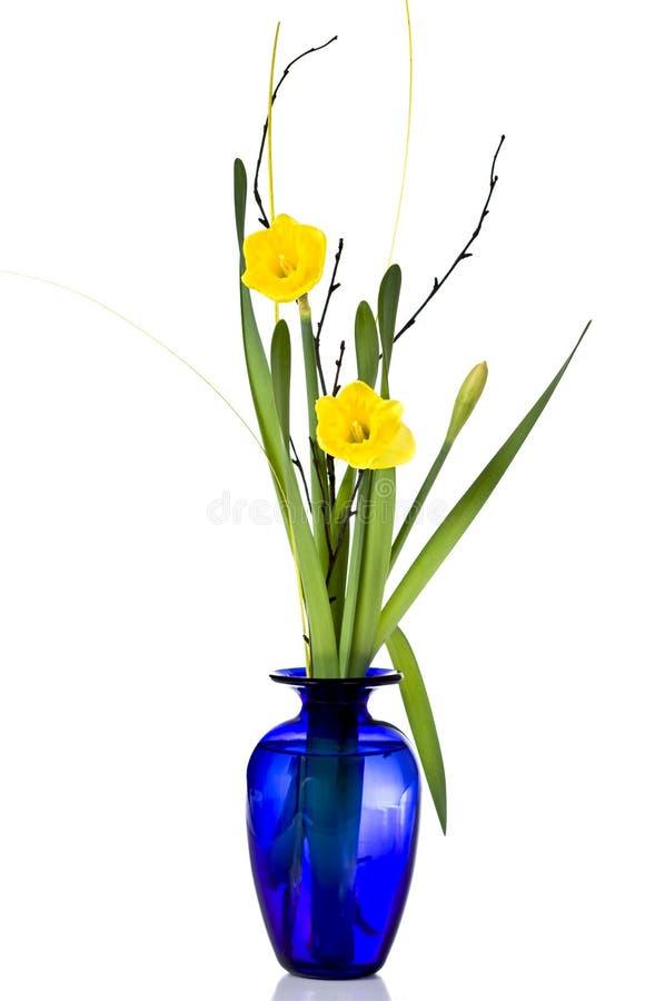Vase of carnation. Blue vase with frash carnation royalty free stock image