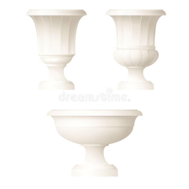 Vase décoratif à style classique illustration libre de droits