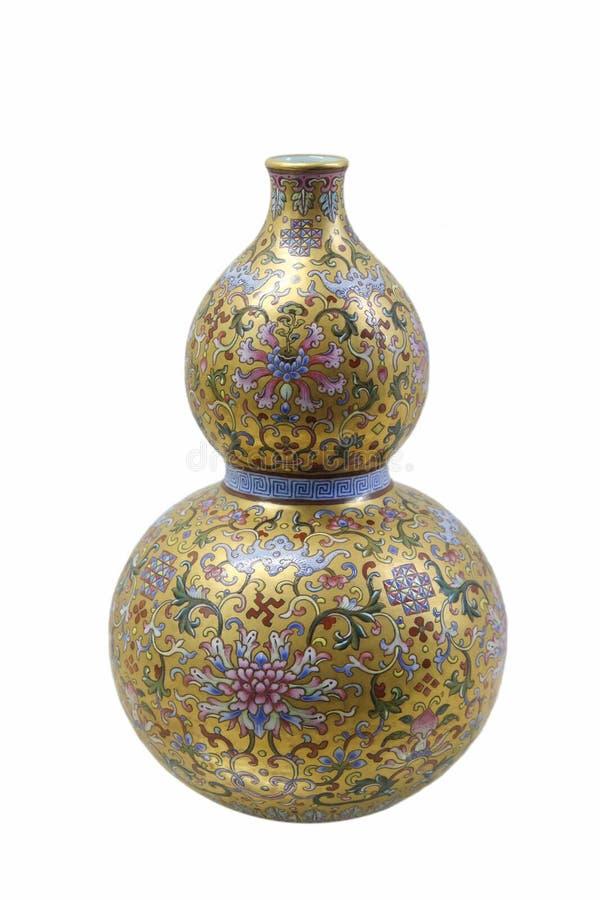 Vase de fantaisie à courge de glaçure photographie stock