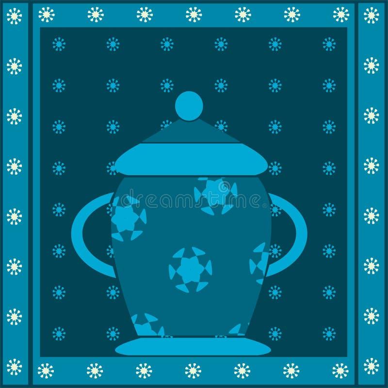 Download Vase decorated stock illustration. Illustration of design - 16571332