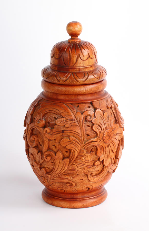 Vase en bois photos libres de droits