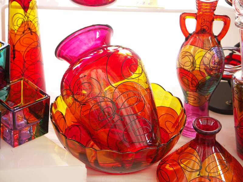 Vase En Verre D Beaux-arts Photos stock