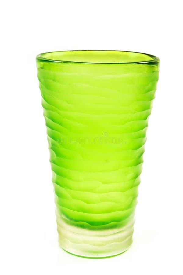 Vase en verre isolé sur fond blanc photos stock
