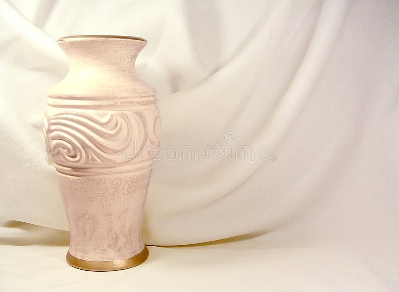Vase and Fabric royalty free stock image