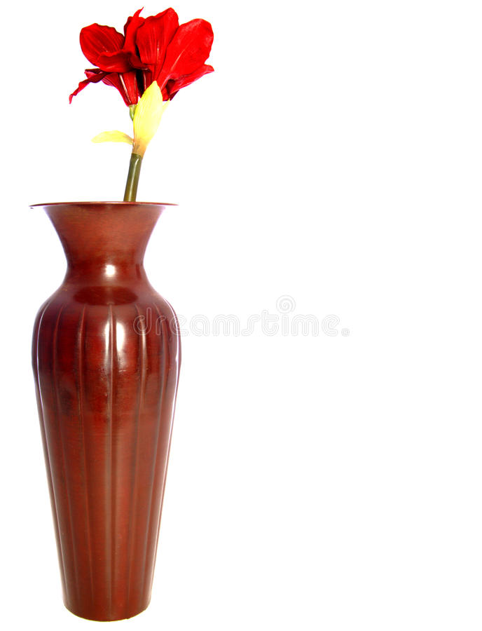 Vase and Flower stock photos