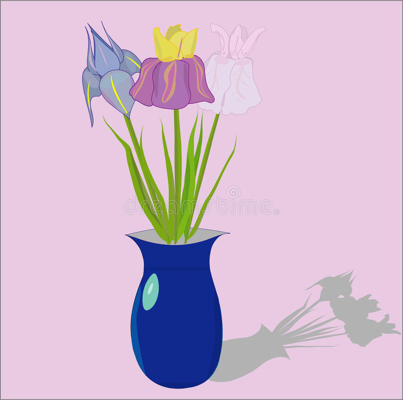 Vase with the flowers stock images