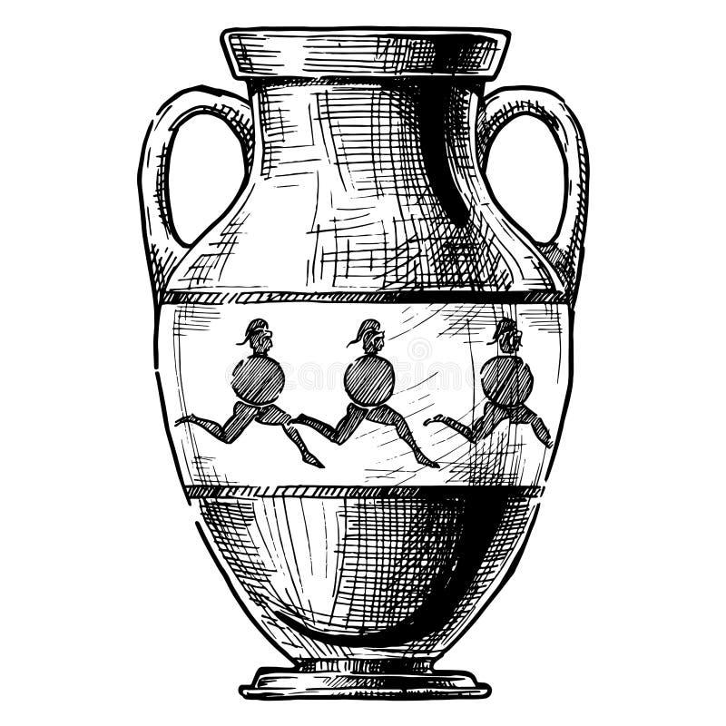 Vase grec amphora illustration libre de droits