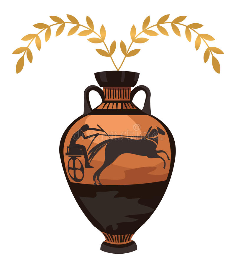 Vase grec antique illustration stock