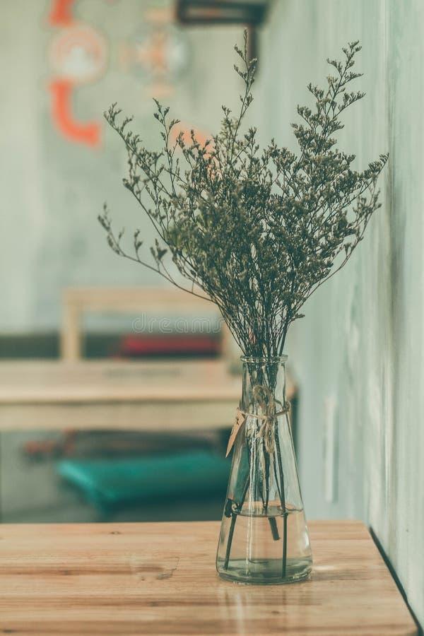 Vase of herbs stock image