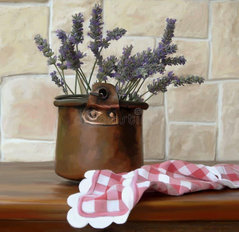 Download Vase of lavender stock illustration. Image of digital - 18963633