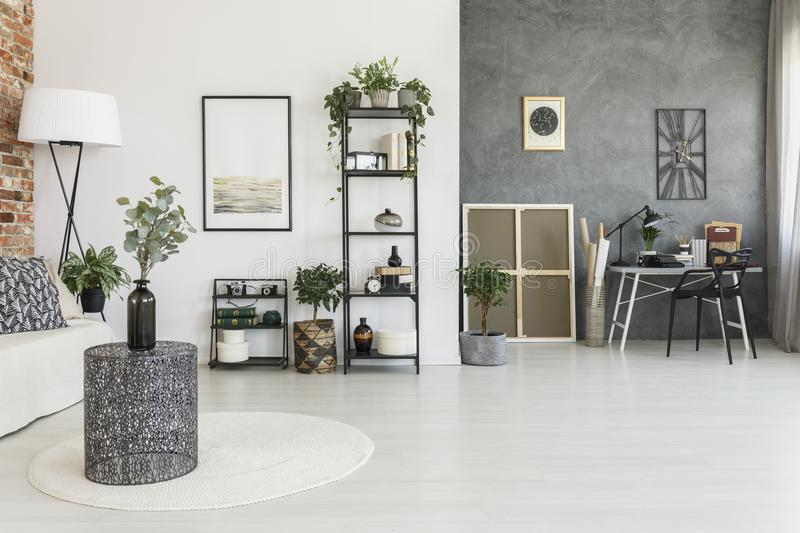 Open space living room stock images
