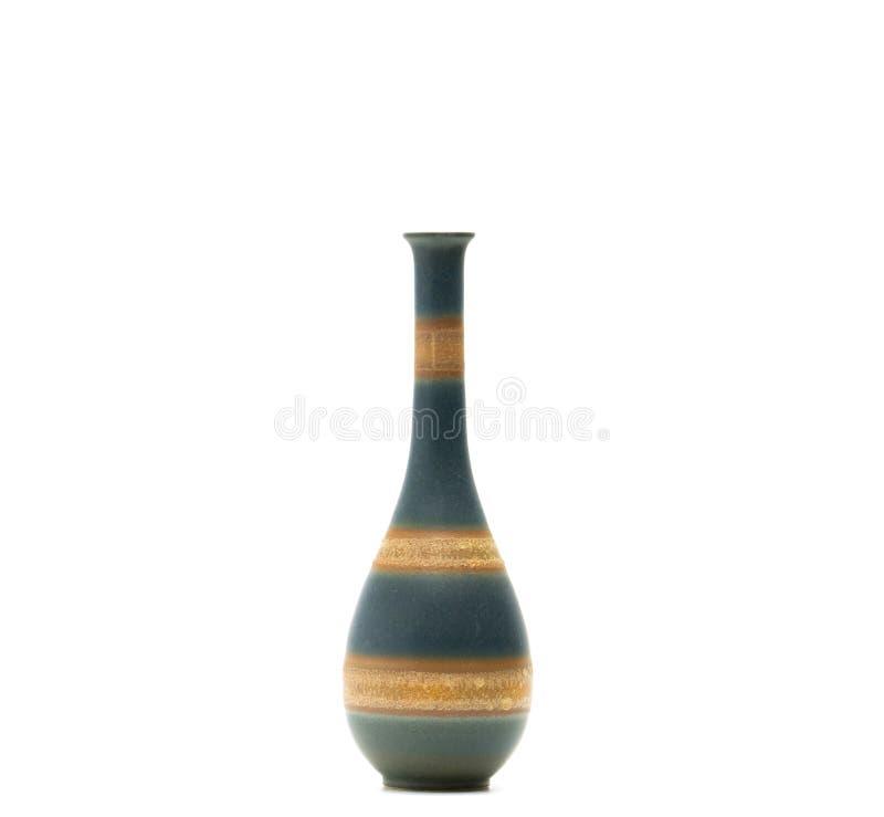 Vase moderne à poterie avec de beaux modèles d'isolement images libres de droits