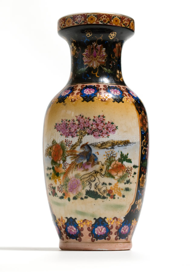 Vase with ornament