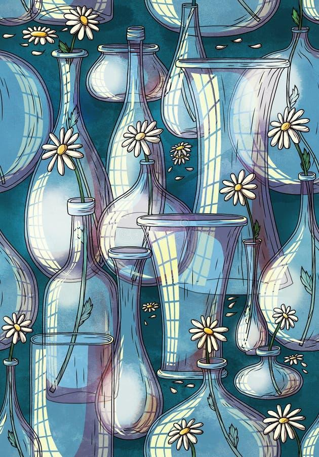 Vase pattern stock image