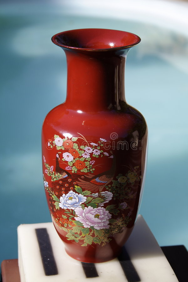 Vase rouge chinois photos libres de droits