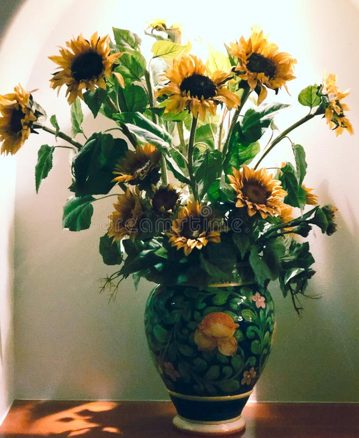 Vase of Sunflowers royalty free stock images