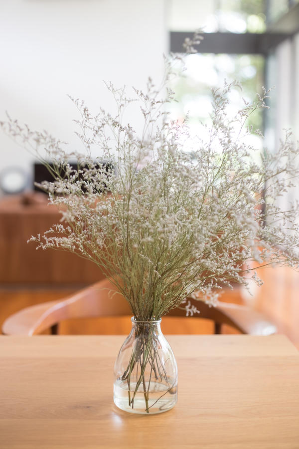 Vase on a table in the living room stock photography
