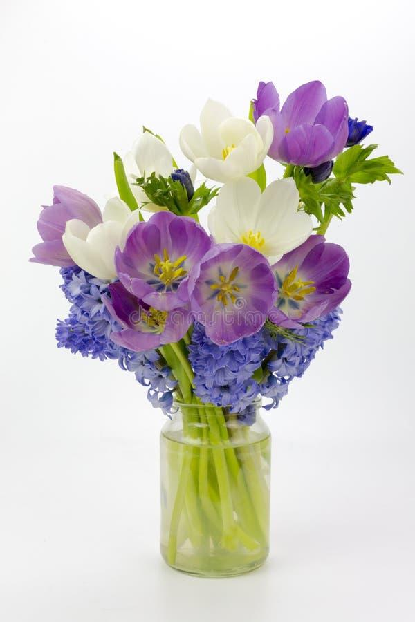 Vase of Tulips stock photos