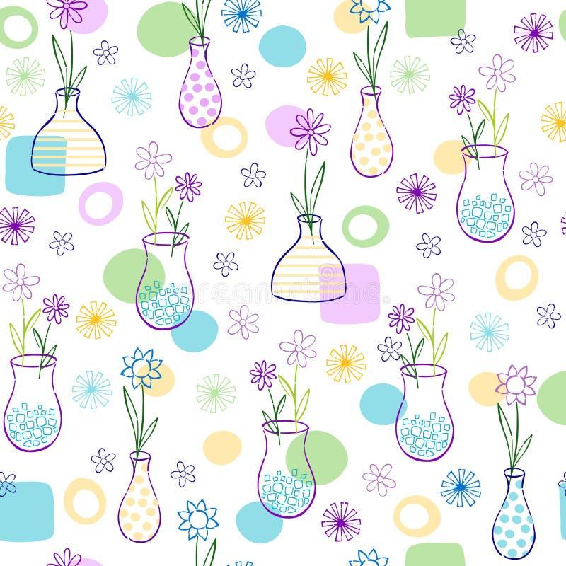 vases προτύπων λουλουδιών ελεύθερη απεικόνιση δικαιώματος
