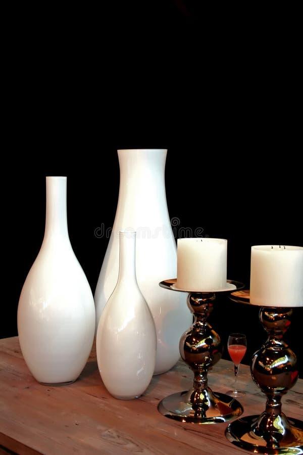 Vases blancs photo stock