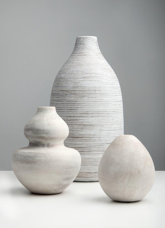 Vases blancs photo libre de droits