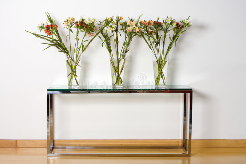 Vases et centrales en verre photographie stock