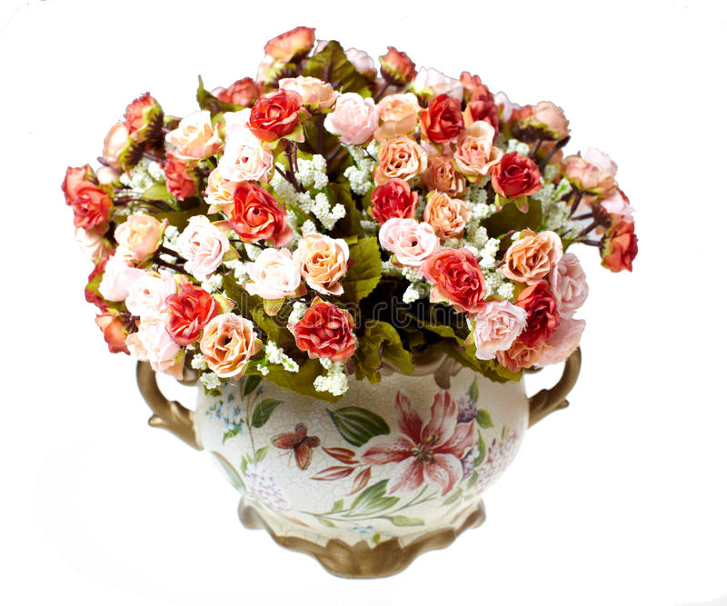 Vases with flowers royalty free stock photography