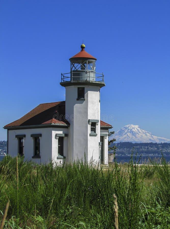 Vashon Island Lighthouse lizenzfreie stockbilder