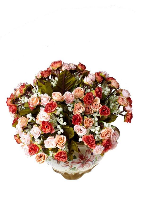 Vasi con i fiori fotografia stock libera da diritti